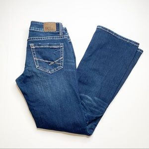 BKE Stella Boot Stretch Blue Denim Jeans 27 X 31.5